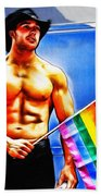 Gay Pride Bath Towel