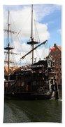 Gdynia Pirate Ship - Gdansk Bath Towel