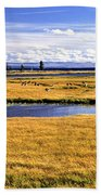 Geese At Yellowstone Lake Bath Towel