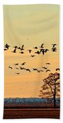 Geese In Flight I Hand Towel