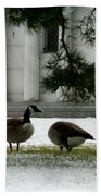 Geese In Snow Bath Towel