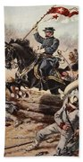 General Sheridan At The Battle Of Five Bath Towel