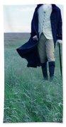 Gentleman Walking In The Country Bath Towel