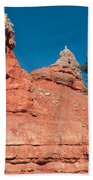 Geological Forces At Red Canyon Bath Towel