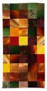 Geometric Abstract Quilted Meadow Bath Towel