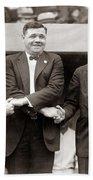 George Sisler Babe Ruth Ty Cobb Bath Towel