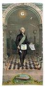 George Washington Freemason Bath Towel