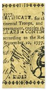 Georgia Banknote, 1777 Bath Towel