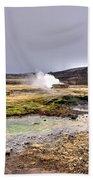 Geothermal Landscape  Bath Towel