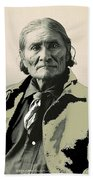 Geronimo As Photographed By A. Rinehart Omaha Nebrasks  1898-2013.  Bath Towel