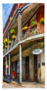 Getting Around The French Quarter - Watercolor Bath Towel