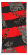 Ghana In Red And Black Bath Towel