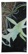 Ghost Orchid On A Palm Tree Bath Towel