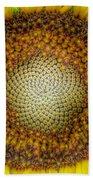 Ghost Sunflower Bath Towel