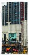 Downtown Chicago High Rise Construction Site Bath Towel