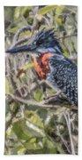 Giant Kingfisher Bath Towel
