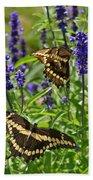 Giant Swallowtail Butterfly Couple Bath Towel