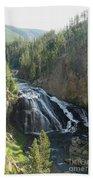 Gibbon River And Falls Bath Towel