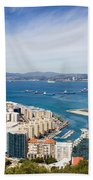 Gibraltar City And Bay Bath Towel