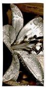 Gilded Lilies 3 Bath Towel