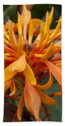 Ginger Flower Bath Towel