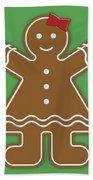 Gingerbread People Bath Towel