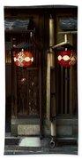Gion Geisha District Doorways Bath Towel