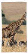 Giraffe Giraffa Camelopardalis Bath Towel