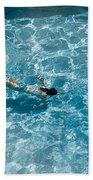 Girl In Pool Bath Towel