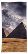 Giza Pyramids In Cairo Egypt Bath Towel