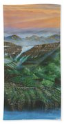 Glacier Castle Ruins Bath Towel