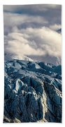 Glacier In The Clouds Bath Towel