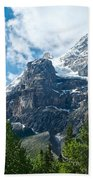 Glacier Seen From Kicking Horse Campground In Yoho Np-bc Bath Towel