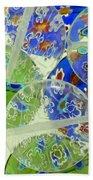 Glass Beads Abstract Bath Towel
