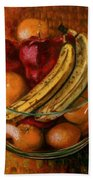 Glass Bowl Of Fruit Bath Towel