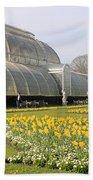 Glass House At Kew Gardens London Bath Towel