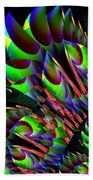 Glow In The Dark Abstract Bath Towel