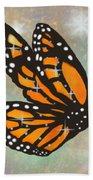 Glowing Butterfly Hand Towel