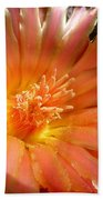 Glowing Cactus Flower Bath Towel
