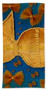 Glowing  Gold Fish Bath Towel