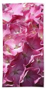 Glowing Pink Hydrangea Bath Towel