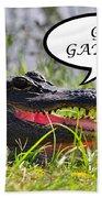 Go Gators Greeting Card Bath Towel