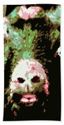 Goat Abstract Bath Towel