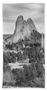 Gods Colorado Garden In Black And White    Bath Towel