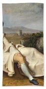 Goethe In The Roman Campagna Bath Towel