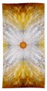 Gold And White Light Mandala Bath Towel