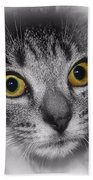 Gold Eyes Bath Towel