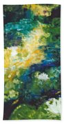 Gold Fish Pond Bath Towel
