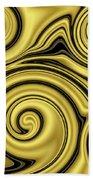 Gold Swirl Bath Towel