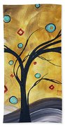 Golden Admiration By Madart Bath Towel